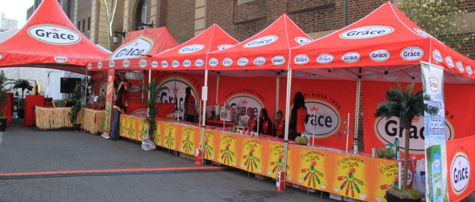 Grace Foods Sampling Tent